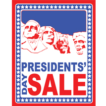 Presidents Day Sale Poster