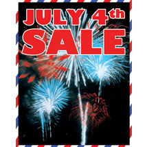Fourth Of July Sale Sign
