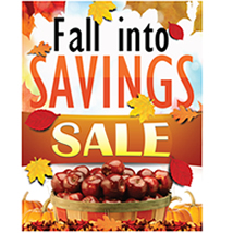 Fall Into Savings Poster