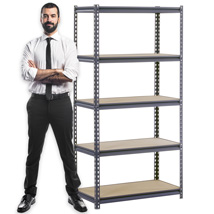 Boltless SHELVING Unit Storage Rack - 36 in. W x 24 in. D x 72 in. H