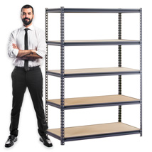 Boltless Shelving Unit Storage Rack - 48 In. W X 24 In. D X 72 In. H