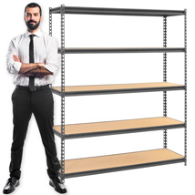 Boltless Shelving Unit Storage Rack - 60 In. W X 24 In. D X 72 In. H