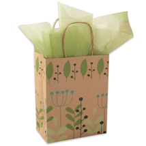 Leaves and Berries Gift Bags - 100 per carton