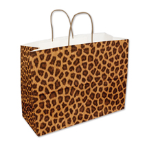 Leopard Print Shopping Bags - 16 in. x 6 in. x 13 in.