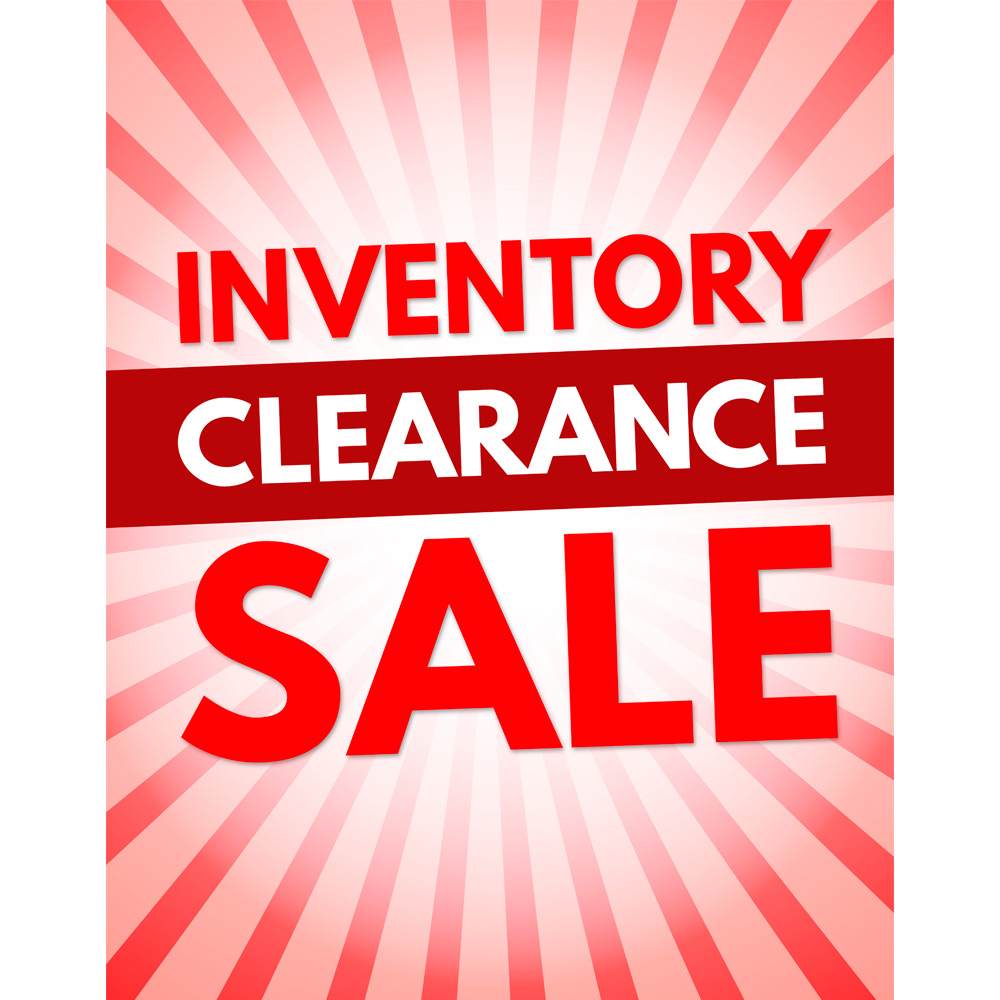 22 X 28 Inventory Clearance Sale Poster