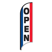 11 Feet OPEN Feather Flag -Outdoor Advertising Sign