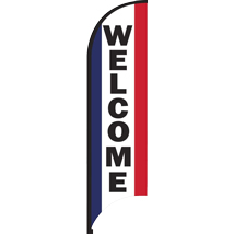 11 Feet Welcome Feather Flag - Outdoor Advertising Sign