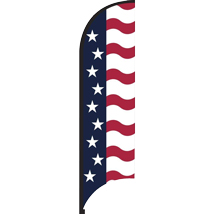 11 Feet Stars And Stripes Feather American Flag - Outdoor Advertising Sign