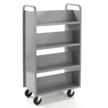 8 Shelf Double Sided Book Cart