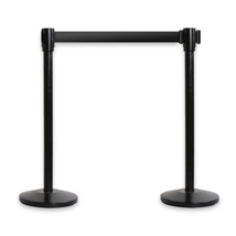 Retractable Belt Economy Stanchions - 2 Pack