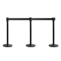 Retractable Crowd Control Barriers - 3 Pack
