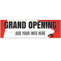 Custom Grand Opening Banner - 120 In. W X 36 In. H