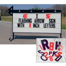 8 Inch Flex Letters For Backlit Roadside Sign - 300 Count