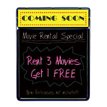 Lighted Blackboard With Header Sign - Coming Soon