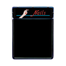 Lighted Blackboard With Header Sign - Nails
