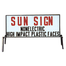 Double-Sided Roadside Sun Sign - White Face