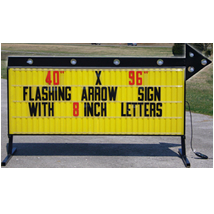 Double Sided Backlit Roadside Sign With Arrow 8 Ft. W X 40 In. H