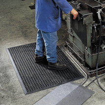 Safety Rubber Floor Mat - 3 ft. x 10 ft.  x 1/2 in.