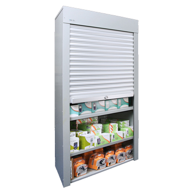 Fully Assembled Steel Security Case With Shutter Front