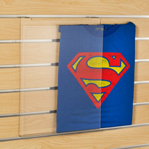 Acrylic T Shirt Display For Slatwall