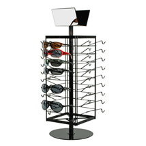 36 Pair Sunglasses - Eyewear Countertop Spinner Display - Black