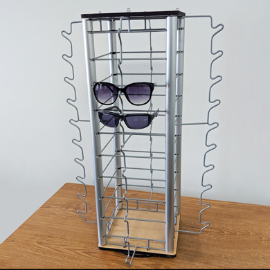 Elegant Countertop Eyewear Spinner - Holds 40 Pair Of Glasses
