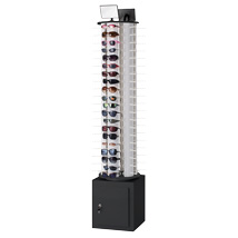120 Pair Sunglasses & Eye Wear Floor Display Spinner with Locking Storage