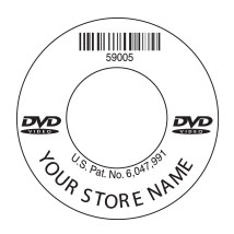 DVD Custom Barcode Label