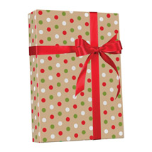 CHRISTMAS Dots Gift Wrap Jumbo Roll
