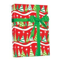 Christmas Tree Gift Wrap Jumbo Roll