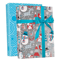Snow Friends Reversible Gift Wrap Jumbo Rol