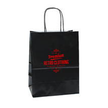 Custom Printed Paper Shopping Bags - Black
