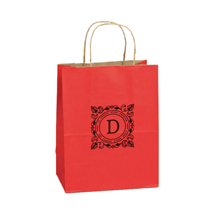 Custom Printed Paper Shopping Bags - Red