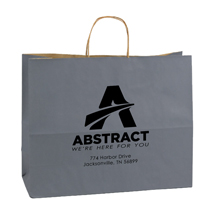 Custom Printed Paper Shopping Bags - Charcoal