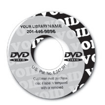 DVD Custom Security Void Label
