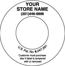 Custom Imprinted CD Label