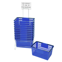 12 Custom Plastic Shopping Basket Set