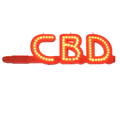 Led Marquee Lighted Letters Cbd Sign