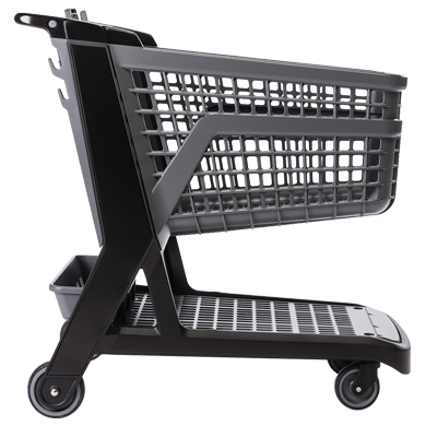 Gray All Plastic Full Size Grocery Shopping Cart