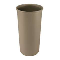 Beige 22-Gallon Round Waste Container