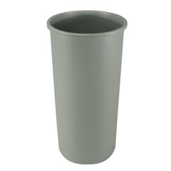Grey 22-Gallon Round Waste Container