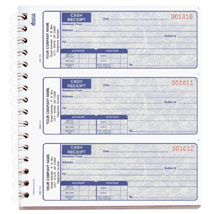 3-Part Cash Receipt Books In Blue