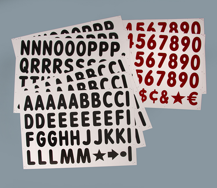 4 In. Extra Letters For White Face Swinger Sidewalk Sign