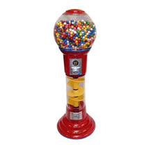 5 Foot Tall Red Spiral Gumball Machine