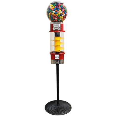 Spin and Whirl Gumball Machine with Retro Stand