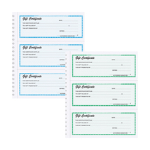 Gift Certificates Wire Bound Books
