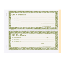 Gift Certificate Wrap-Around Book