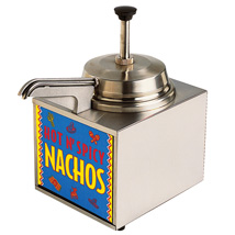 3.5 Quart Lighted Nacho Cheese Warmer With Pump And Heated Spout
