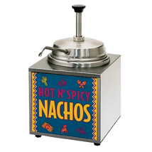 3.5 Quart Lighted Nacho Cheese Warmer with Pump