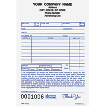 "Custom Imprinted Video Rental Register Forms 4"" x 6-1/2"" 2 Part"